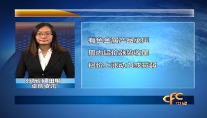 """中国金融台与卓创资讯联合播报""""期货产"""
