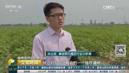 央视《交易时间》采访卓创资讯分析师孙立武