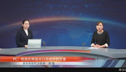 PC:我国在韩国出口市场中的分量