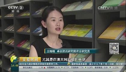央视财经频道《交易时间》采访卓创资讯研究院研究员王程程