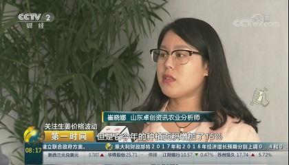 央视《第一时间》采访卓创资讯分析师崔晓娜