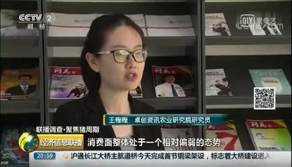 央视财经频道《经济信息联播》采访卓创资讯分析师王程程