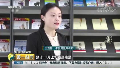 央视财经频道《第一时间》采访卓创资讯