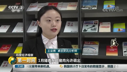 央视财经频道《第一时间》采访卓创资讯分析师王亚男