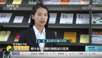 央视财经频道《交易时间》采访卓创资讯