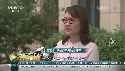 央视《第一时间》采访卓创资讯分析师王媛媛
