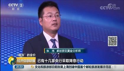 央视《经济信息联播》采访卓创美高梅4858网址黄金
